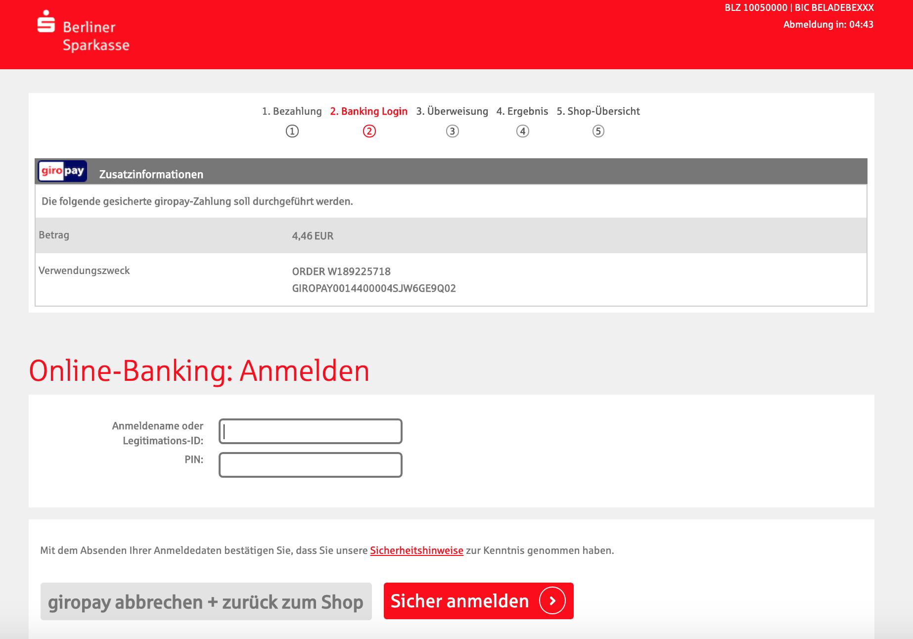 Giropay Online Banking